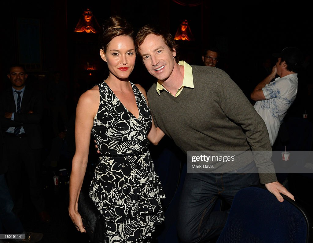 Actors Erinn Hayes and Rob Huebel attend the 'Childrens Hospital' and 'NTSF:SD:SUV' screening event at the Vista Theatre on September 9, 2013 in Los Angeles, California. 24049_001_MD_0143.JPG