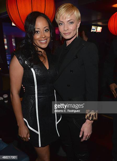 Actors Essence Atkins and Jaime Pressly attend the after party for the premiere of Open Road Films' 'A Haunted House 2' at on April 16 2014 in Los...