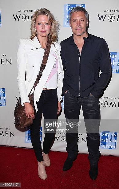 Actors Estella Warren and Max Ryan attend An Evening with Women kickoff concert presented by the LA Gay Lesbian Center at The Roxy Theatre on March...