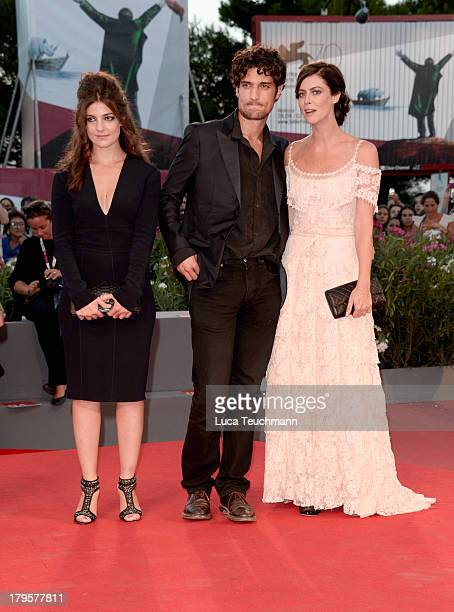 Actors Esther Garrel Louis Garrel and Anna Mouglalis attend 'La Jalousie' Premiere during the 70th Venice International Film Festival at the Sala...