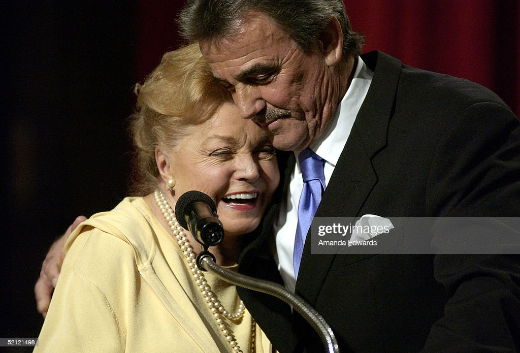 Actors Esther Williams and Eric Braeden celebrate Braeden's 25th anniversary playing legendary character Victor Newman on 'The Young and The Restless' at a special ceremony on February 1, 2005 at CBS Television City in Los Angeles, California.