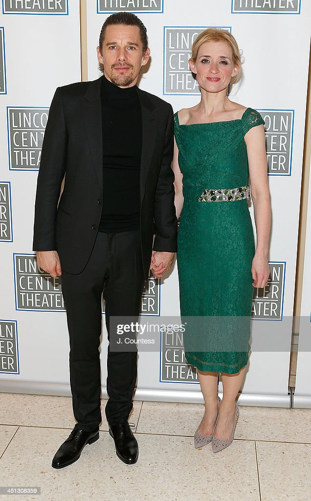 Actors Ethan Hawke and Anne-Marie Duff attend the afterparty for the opening night of 'Shakespeare's Macbeth' at Avery Fisher Hall, Lincoln Center on November 21, 2013 in New York City.