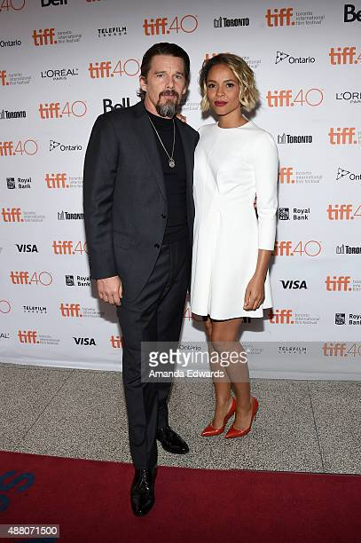 Actors Ethan Hawke and Carmen Ejogo attend the 'Born to Be Blue' premiere during the 2015 Toronto International Film Festival at the Winter Garden...