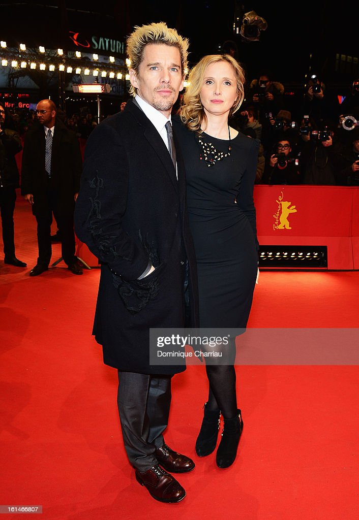 Actors Ethan Hawke and Julie Delpy attend the 'Before Midnight' Premiere during the 63rd Berlinale International Film Festival at the Berlinale Palast on February 11, 2013 in Berlin, Germany.