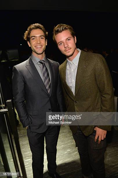 Actors Ethan Peck and Nathan Keyes attend Ermenegildo Zegna Global Store Opening hosted by Gildo Zegna and Stefano Pilati at Ermenegildo Zegna...