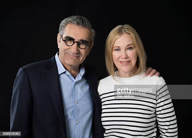 Actors Eugene Levy and Catherine O'Hara are photographed for Los Angeles Times on May 23 2016 in Los Angeles California PUBLISHED IMAGE CREDIT MUST...
