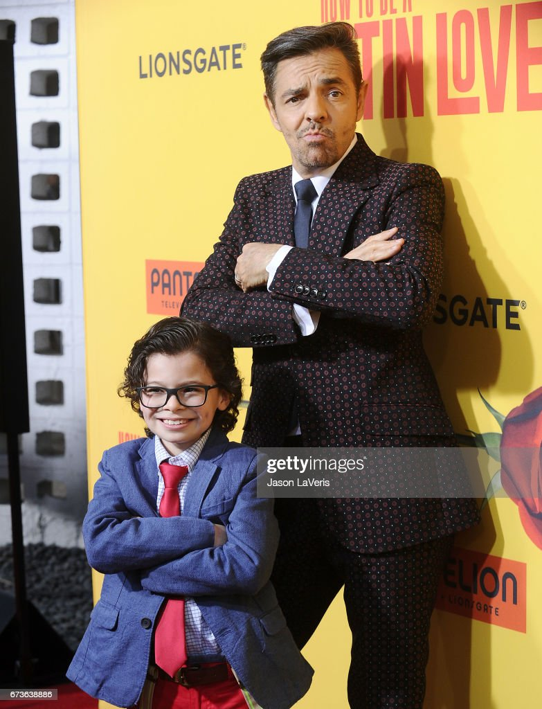 Premiere of pantelion films actors eugenio derbez and raphael alejandro attend the premiere of how to be a latin ccuart Image collections