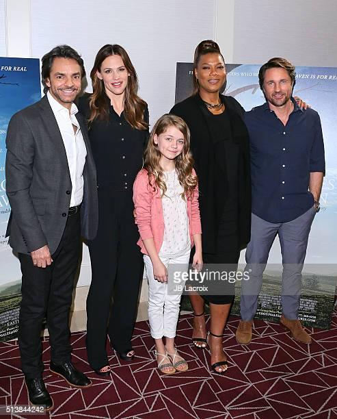 Actors Eugenio Derbez Jennifer Garner Kylie Rogers Queen Latifah and Martin Henderson attend Sony Pictures Releasing's 'Miracles Fro Heaven' Photo...