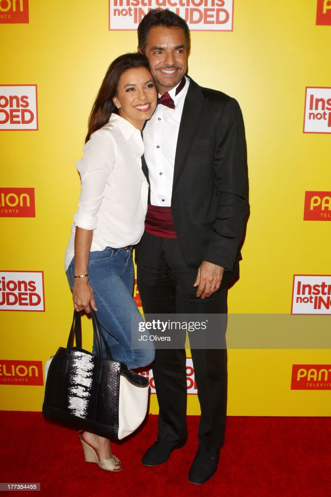 Actors Eva Longoria and Eugenio Derbez attend Los Angeles Premiere of 'Instructions Not Included' at TCL Chinese Theatre on August 22 2013 in...