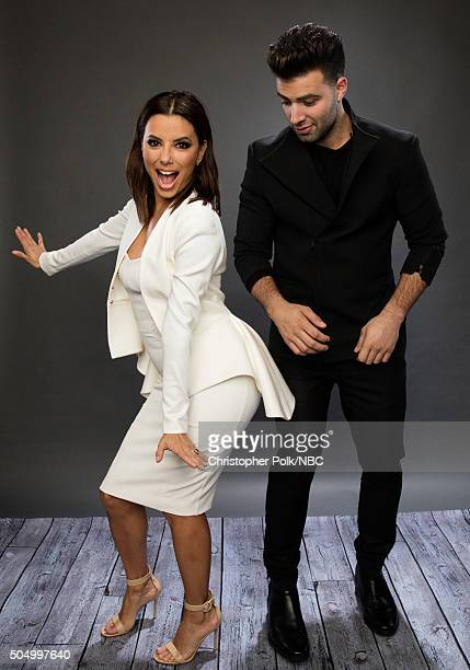 Actors Eva Longoria and Jencarlos Canela pose for a portrait during the NBCUniversal Press Day at The Langham Huntington Pasadena on January 13 2016...