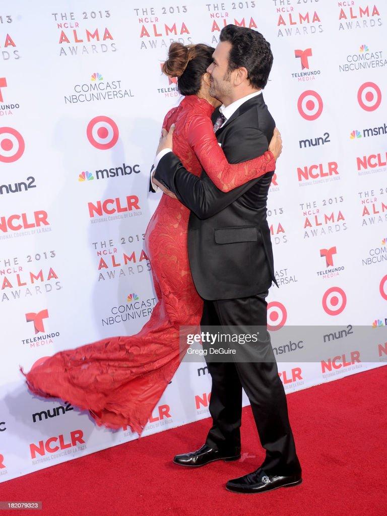Actors Eva Longoria and Ricardo Antonio Chavira arrive at the 2013 NCLA ALMA Awards at Pasadena Civic Auditorium on September 27 2013 in Pasadena...