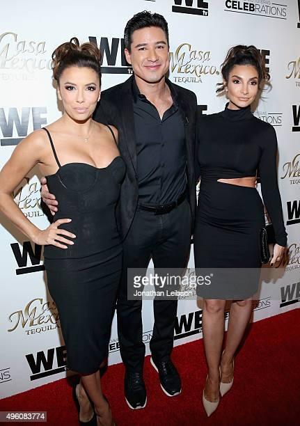 Actors Eva Longoria Mario Lopez and Courtney Mazza attend the launch of WE tv's David Tutera CELEBrations and Casa Mexico Tequila on November 6 2015...
