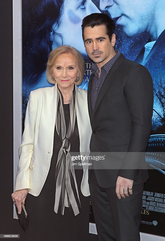 Actors Eva Marie Saint and Colin Farrell attend the 'Winter's Tale' world premiere at Ziegfeld Theater on February 11, 2014 in New York City.