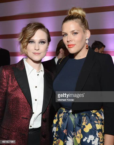 Actors Evan Rachel Wood and Busy Philipps attend The Art of Elysium's 7th Annual HEAVEN Gala presented by MercedesBenz at Skirball Cultural Center on...