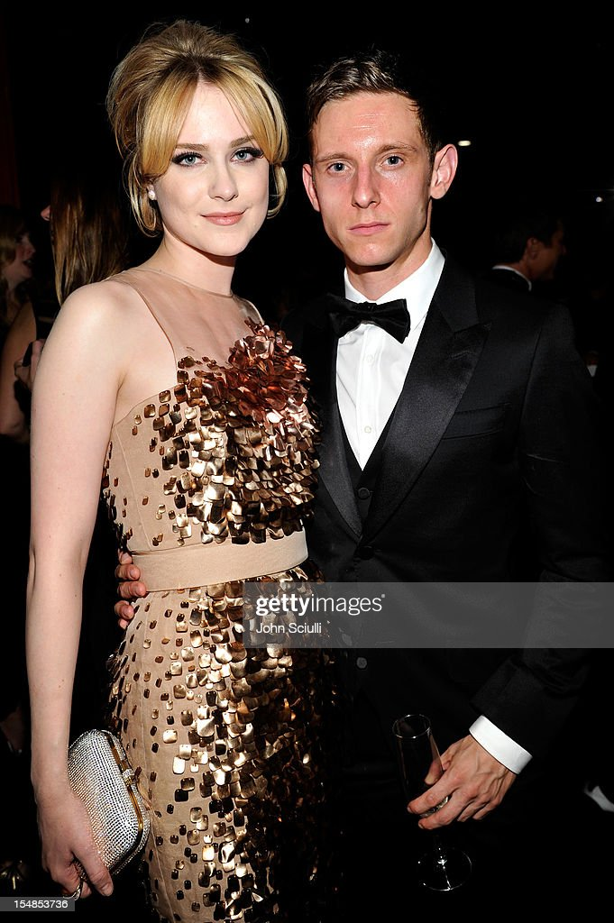 Actors Evan Rachel Wood (L) and Jamie Bell attend LACMA 2012 Art + Film Gala Honoring Ed Ruscha and Stanley Kubrick presented by Gucci at LACMA on October 27, 2012 in Los Angeles, California.
