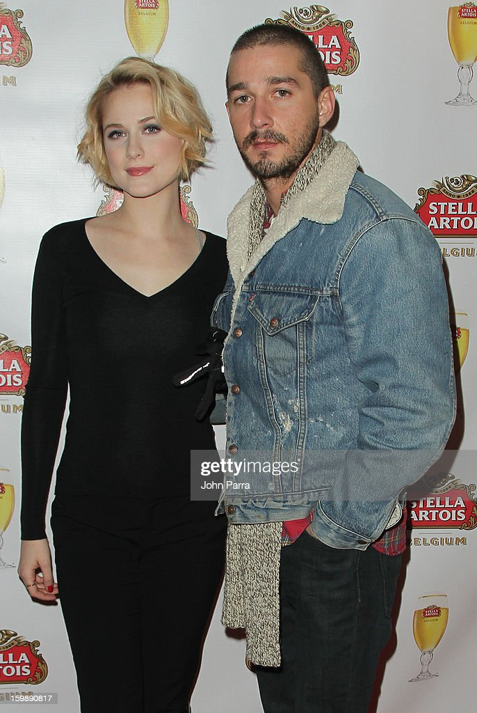 Actors Evan Rachel Wood and Shia LaBeouf attend the Stella Artois hosted Press Junket for 'The Neccessary Death of Charlie Countryman' on January 22, 2013 in Park City, Utah.