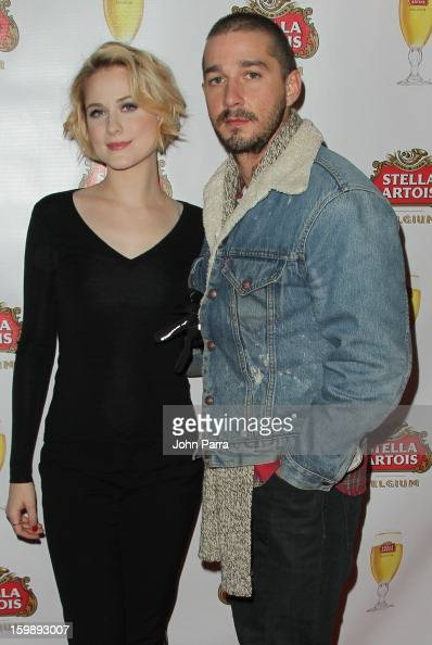 Actors Evan Rachel Wood and Shia LaBeouf attend the Stella Artois hosted Press Junket for 'The Neccessary Death of Charlie Countryman' on January 22...