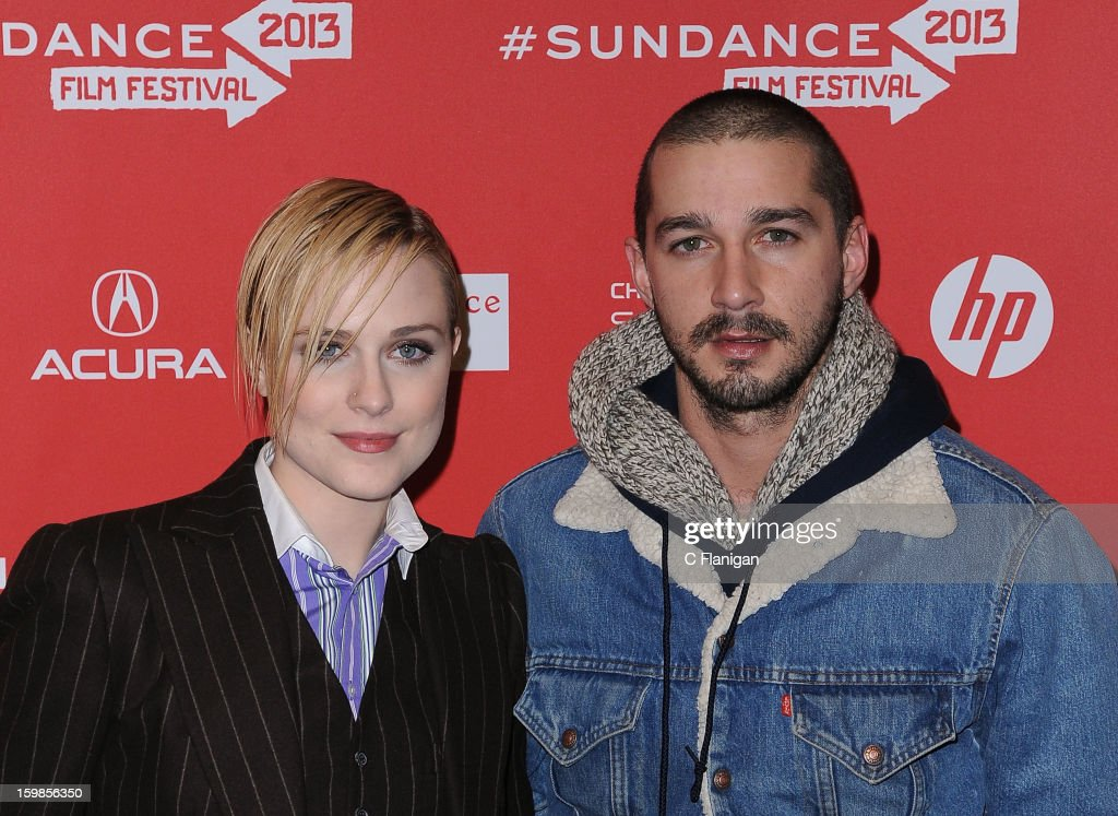 Actors <a gi-track='captionPersonalityLinkClicked' href=/galleries/search?phrase=Evan+Rachel+Wood&family=editorial&specificpeople=203074 ng-click='$event.stopPropagation()'>Evan Rachel Wood</a> and Shia LeBouf attend 'The Necessary Death Of Charlie Countryman' premiere at Eccles Center Theatre during the 2013 Sundance Film Festival on January 21, 2013 in Park City, Utah.