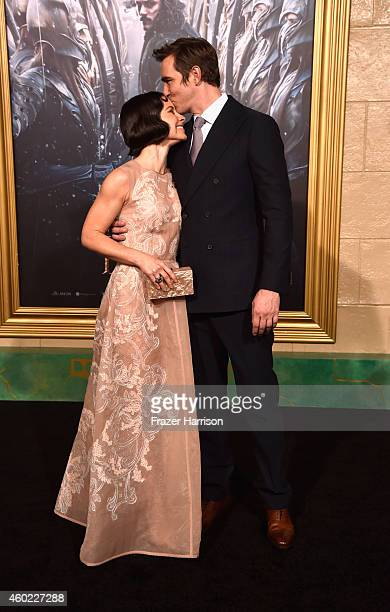 Actors Evangeline Lilly and Lee Pace arrive at the Premiere Of New Line Cinema MGM Pictures and Warner Bros Pictures' 'The Hobbit The Battle Of The...
