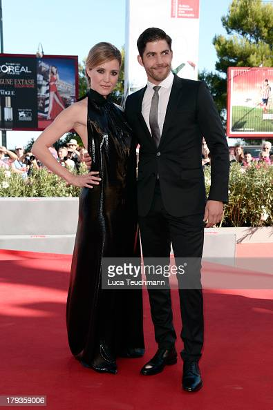 Actors Evelyne Brochu and Actor PierreYves Cardinal attend 'Tom and the Farm' Photocall during the 70th Venice International Film Festival at...
