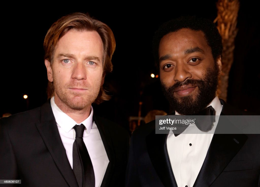 Actors <a gi-track='captionPersonalityLinkClicked' href=/galleries/search?phrase=Ewan+McGregor&family=editorial&specificpeople=202863 ng-click='$event.stopPropagation()'>Ewan McGregor</a> (L) and <a gi-track='captionPersonalityLinkClicked' href=/galleries/search?phrase=Chiwetel+Ejiofor&family=editorial&specificpeople=213998 ng-click='$event.stopPropagation()'>Chiwetel Ejiofor</a> arrive at the 25th annual Palm Springs International Film Festival awards gala at Palm Springs Convention Center on January 4, 2014 in Palm Springs, California.