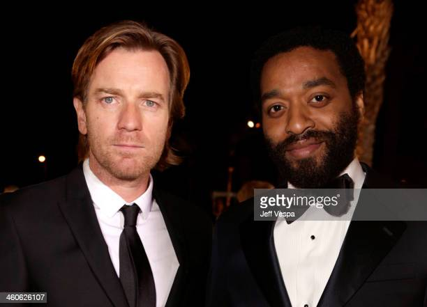Actors Ewan McGregor and Chiwetel Ejiofor arrive at the 25th annual Palm Springs International Film Festival awards gala at Palm Springs Convention...
