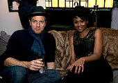 Actors Ewan McGregor and Emayatzy Corinealdi attend Samsung Galaxy View and Sony Pictures Classics Presents Miles Ahead Cocktail Party at the Samsung...