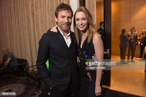 Actors Ewan McGregor and Emily Blunt attend the 2nd Annual unite4humanity presented by ALCATEL ONETOUCH at the Beverly Hilton Hotel on February 19...