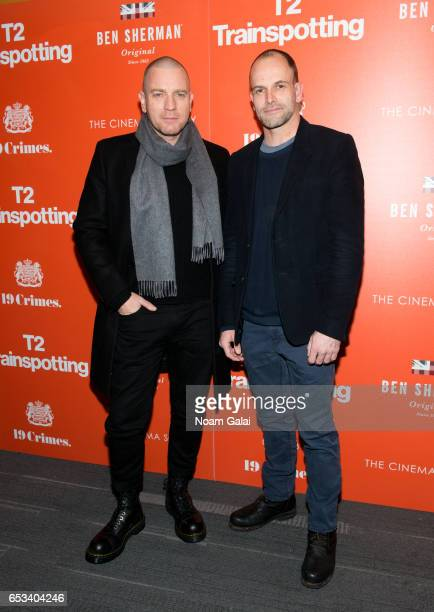 Actors Ewan McGregor and Jonny Lee Miller attend a screening of 'T2 Trainspotting' hosted by TriStar Pictures and The Cinema Society at Landmark...