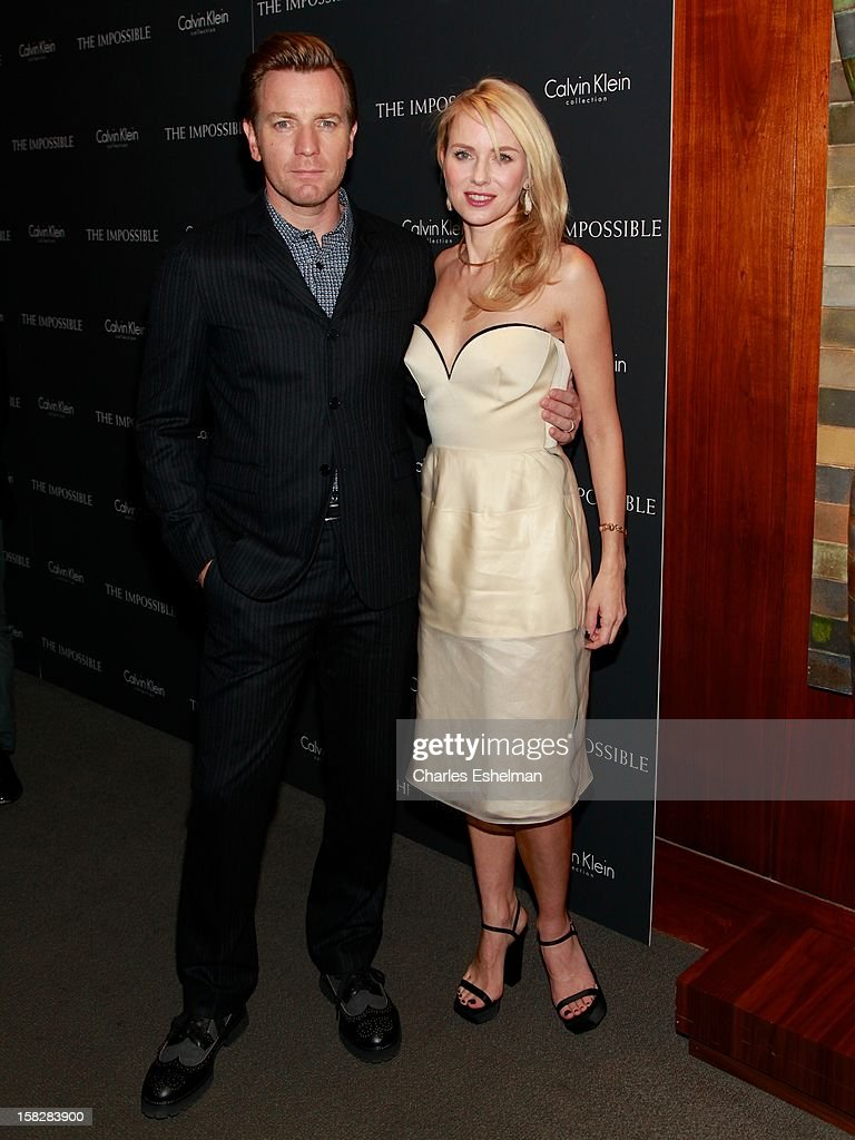 Actors Ewan McGregor anf Naomi Watts attend 'The Impossible' screening at the Museum of Art and Design on December 12, 2012 in New York City.