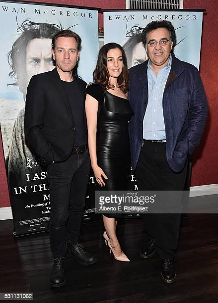 Actors Ewan McGregor Ayelet Zurer and director Rodrigo Garcia attends a VIP screening of Broad Green Pictures' 'Last Days In The Desert' on May 12...