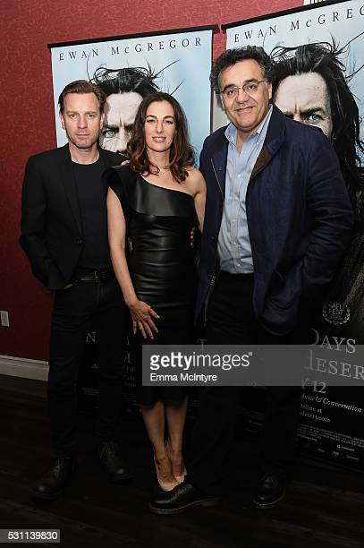 Actors Ewan McGregor Ayelet Zurer and writer/director Rodrigo Garcia arrive at a screening of Broad Green Pictures' 'Last Days In The Desert' at...