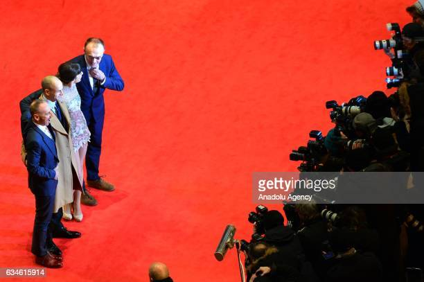 Actors Ewen Bremner Jonny Lee Miller Anjela Nedyalkova and Film director Danny Boyle attend the red carpet of 'T2 Trainspotting' during the 67th...