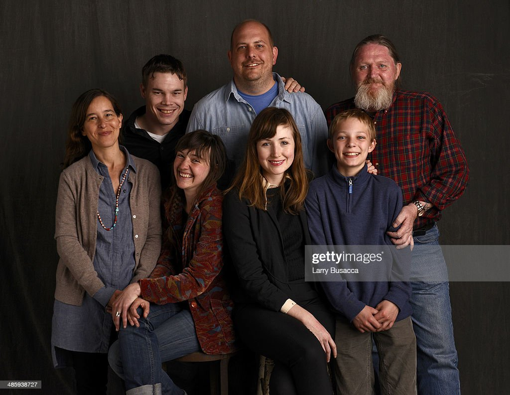 Actors Executive producer Pamela Koffler, actor Gabriel Croft, actress Julie Sokolowski, director Andrew Tbetzer, actress Kate Lyn Shiel, actor Hale Lytle, Daniel P. Jones from 'Young Bodies Heal Quickly' pose for the Tribeca Film Festival Getty Images Studio on April 21, 2014 in New York City.