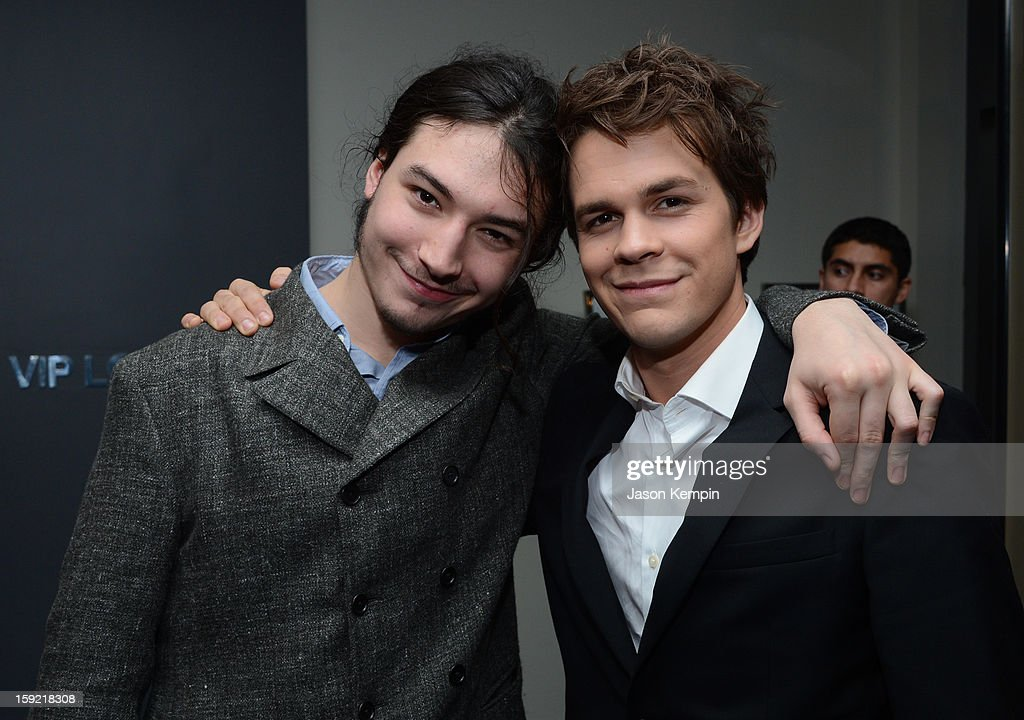 Actors Ezra Miller and Johnny Simmons attend the 39th Annual People's Choice Awards at Nokia Theatre L.A. Live on January 9, 2013 in Los Angeles, California.