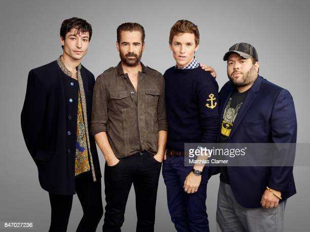 Actors Ezra Miller Colin Farrell Eddie Redmayne and Dan Fogler from 'Fantastic Beasts and Where to Find Them' is photographed for Entertainment...