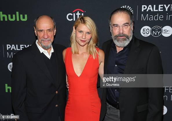 Actors F Murray Abraham Claire Danes and Mandy Patinkin attend the PaleyFest New York 2016 'Homeland' screening and panel discussion at The Paley...