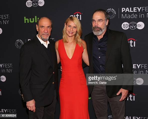 Actors F Murray Abraham Claire Danes and Mandy Patinkin attend the 'Homeland' panel discussion and screening during PaleyFest New York 2016 held at...