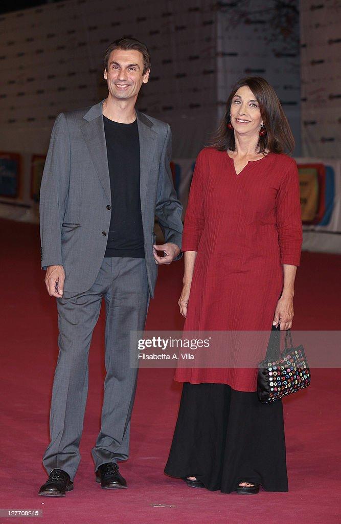 Actors Fabrizio Gifuni and Anna Bonaiuto attend the 2011 Rome Fiction Fest Closing Ceremony at Auditorium Parco Della Musica on September 30 2011 in...