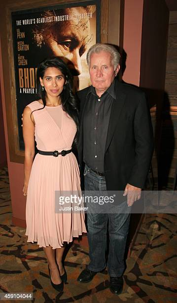 Actors Fagun Thakrar and Martin Sheen attend Revolver Entertainment Presents 'Bhopal A Prayer For Rain' Los Angeles opening weekend screening at...