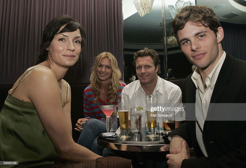 Actors Famke Janssen, Tania Deighton, Alex May and James Marsden attend the after party for the premiere of Sony Pictures Classics' 'Heights' at Fredrick's June 6, 2005 in New York City.