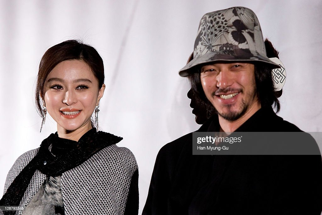 Actors Fan Bingbing and Odagiri Joe attend at the press conference of the 'My Way' during the 16th Busan International Film Festival (BIFF) at Shinsegae CGV theater on October 8, 2011 in Busan, South Korea. The biggest film festival in Asia showcases 307 films from 70 countries and runs from October 6-14.