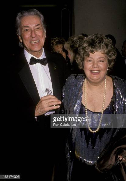 Actors Farley Granger and Shelley Winters attend Seventh Annual American Cinema Awards on January 27 1990 at the Beverly Hilton Hotel in Beverly...