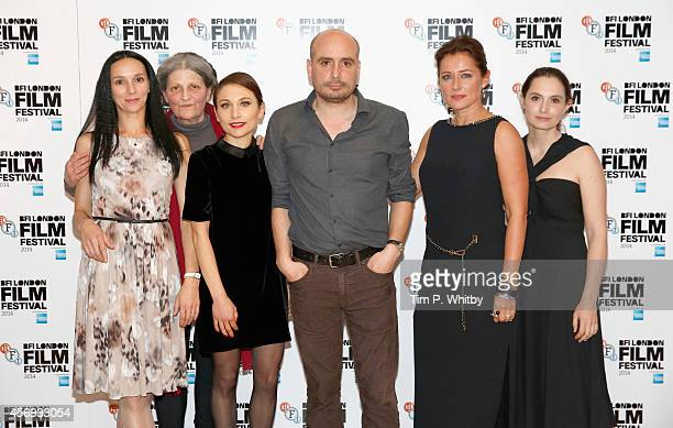 Actors Fatma Mohamed Monica Swinn Chiara D'Anna director Peter Strickland and actors Sidse Babett Knudsen and Eugenia Caruso attend the official...