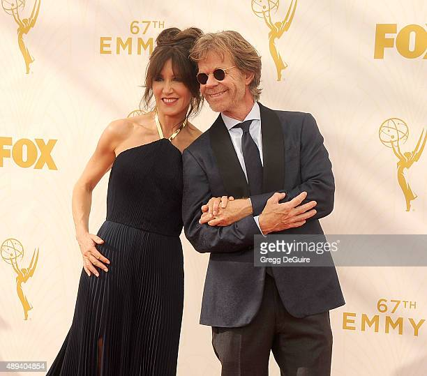 Actors Felicity Huffman and William H Macy arrive at the 67th Annual Primetime Emmy Awards at Microsoft Theater on September 20 2015 in Los Angeles...