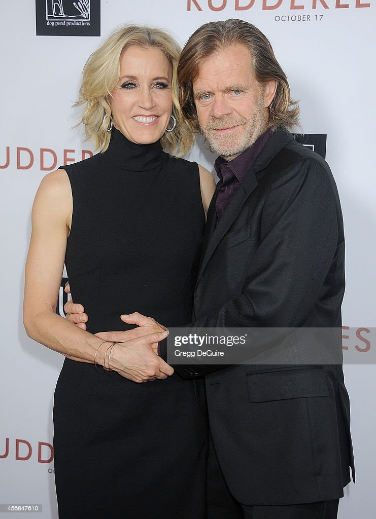 Actors Felicity Huffman and William H Macy arrive at the Los Angeles VIP Screening of 'Rudderless' at the Vista Theatre on October 7 2014 in Los...