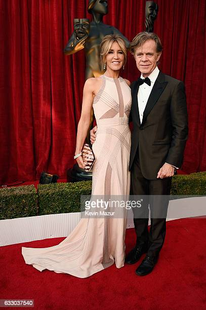 Actors Felicity Huffman and William H Macy attend The 23rd Annual Screen Actors Guild Awards at The Shrine Auditorium on January 29 2017 in Los...