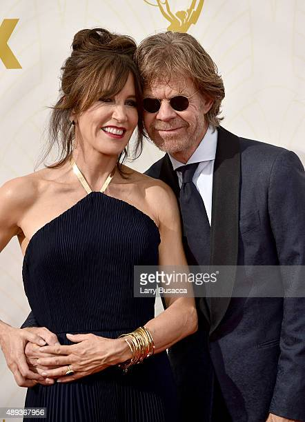 Actors Felicity Huffman and William H Macy attend the 67th Annual Primetime Emmy Awards at Microsoft Theater on September 20 2015 in Los Angeles...