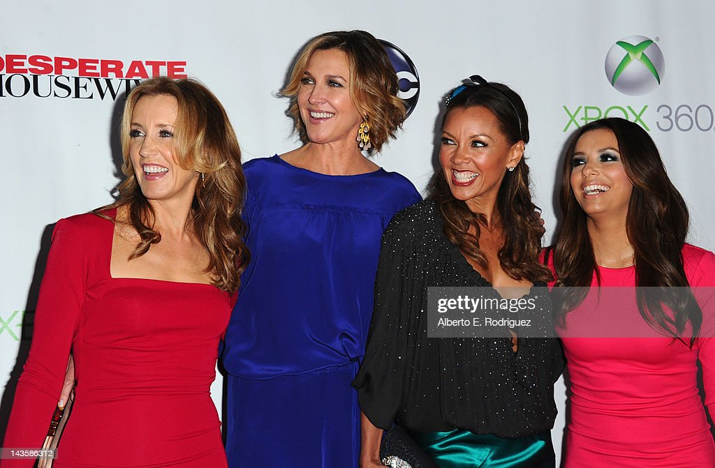 Actors Felicity Huffman Brenda Strong Vanessa Williams and Eva Longoria arrive to the Series Finale of ABC's 'Desperate Housewives' at W Hollywood on...