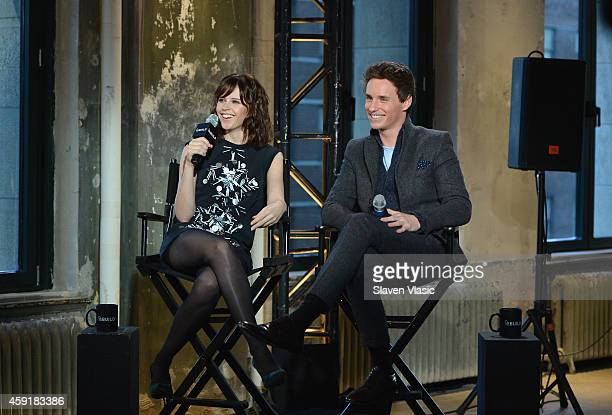 Actors Felicity Jones and Eddie Redmayne attend AOL's BUILD Speaker Series Presents Eddie Redmayne and Felicity Jones at AOL Studios In New York on...